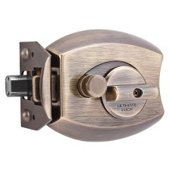 Ultimate 3000-AB Antique Brass Single Cylinder Deadbolt